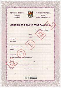 certificat de celebatar