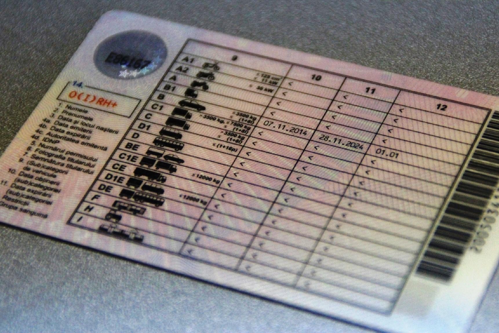Румынское водительское удостоверение